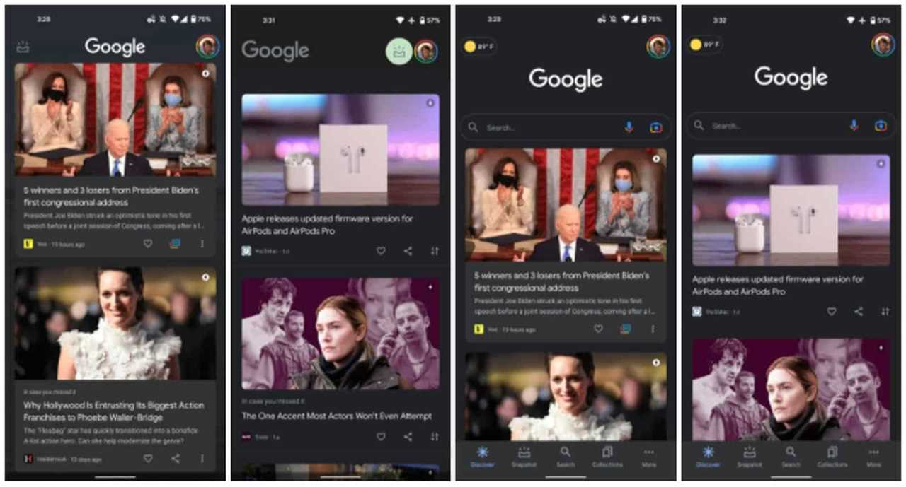Google Discover new design Android 12 9to5Google