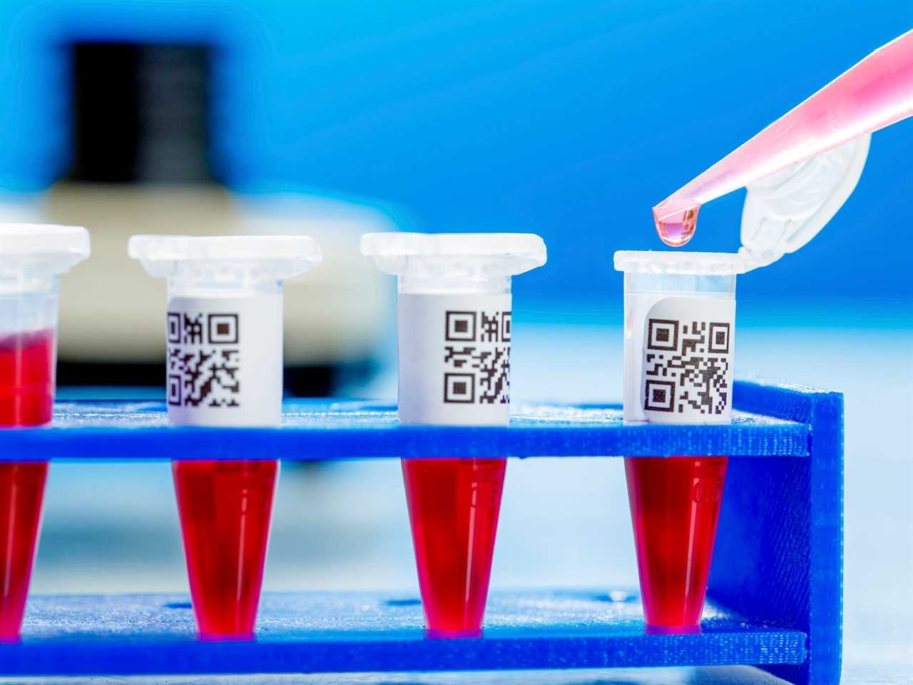 Eppendorf tubes with QR Codes