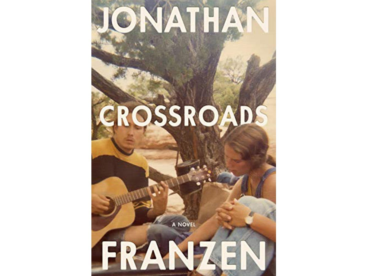 The cover of 'Crossroads' by Jonathan Franzen