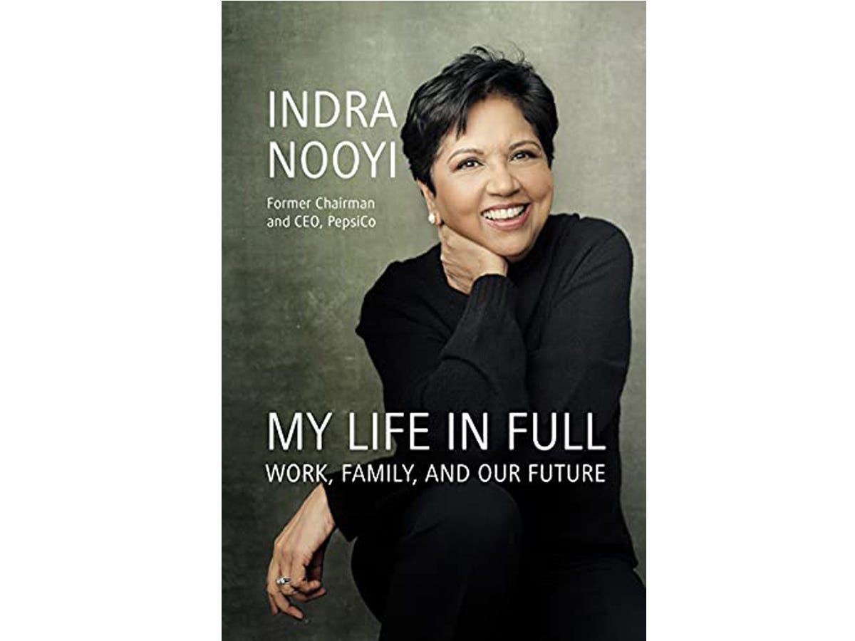 The cover of 'My Life in Full' by Indra Nooyi