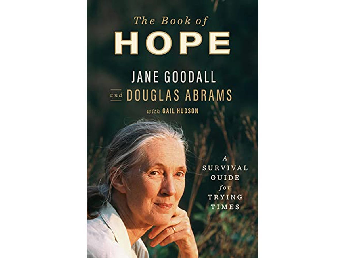 The cover of 'The Book of Hope' by Jane Goodall and Doug Abrams